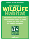 Certified National Wild Life Habitat